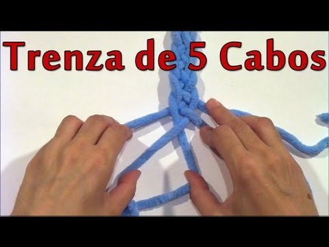 Diy Como Hacer Una Trenza De 5 Cabos How To Make A Braid Of 5 Ends Youtube
