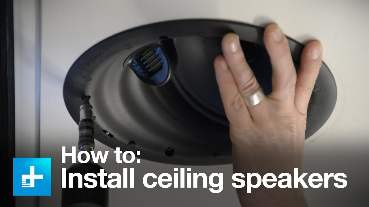 How To Install In Ceiling Speakers With The Golden Ear Invisa Htr 7000 You