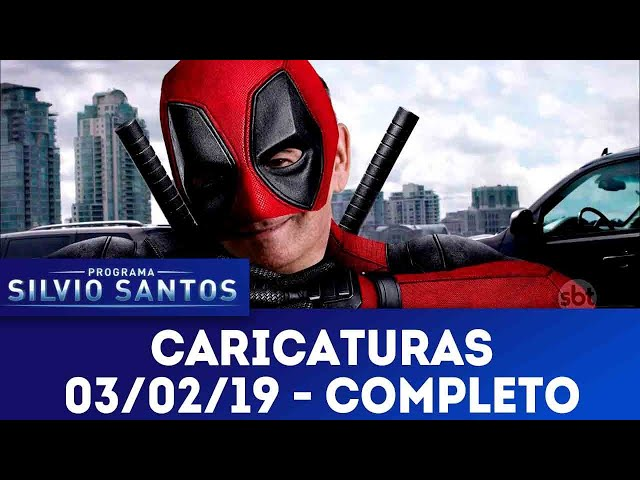 Caricaturas - Completo | Programa Silvio Santos (03/02/19)