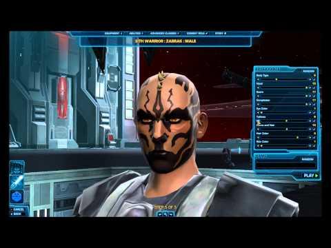 Star Wars: The Old Republic HD Character Creation: Zabrak Male(Empire)