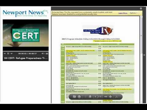 Newport News Immigrant Refugee Disaster Preparedness Program Overview Webinar