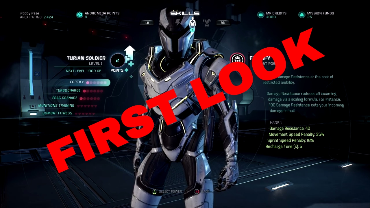 Turian Soldier Build Andromeda