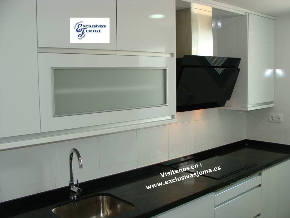 Muebles de cocina avda madrid 4 en tres cantos blanco y - Encimera granito blanco ...