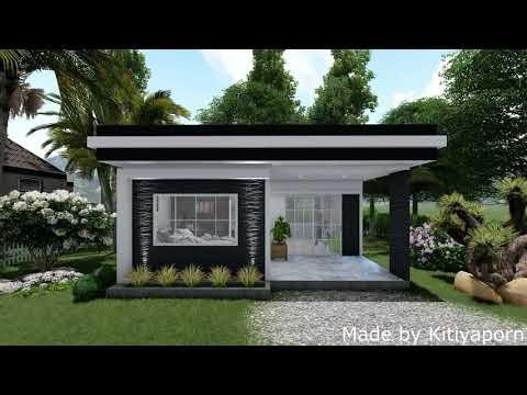 แบบบ้านขนาดเล็ก บ้านสไตล์โมเดิร์น/minimalist house/ low cost house 5x6 m