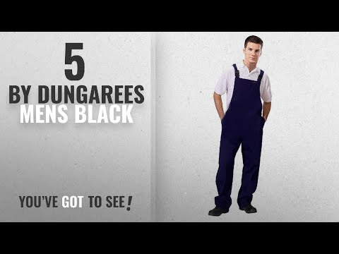 Top 10 Dungarees Mens Black [2018]: Road Master Bib And Brace Dungaree Overalls Painters Suit