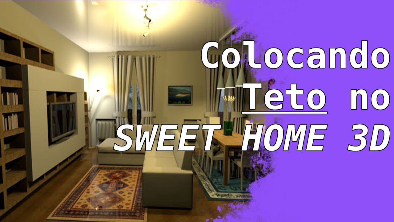 tutorial colocar teto no sweet home 3d forma simples youtube. Black Bedroom Furniture Sets. Home Design Ideas