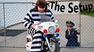 Little Heroes Kidz Motorz Police Motorcycle Kid Cops The Prisoner, The Setup  and Kid Cop Video Paro