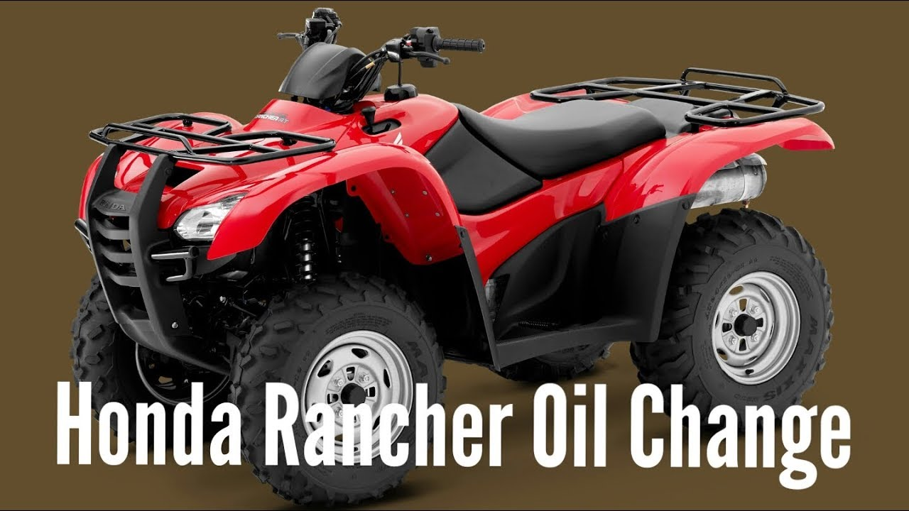 2013 Honda Rancher Oil Change - YouTube