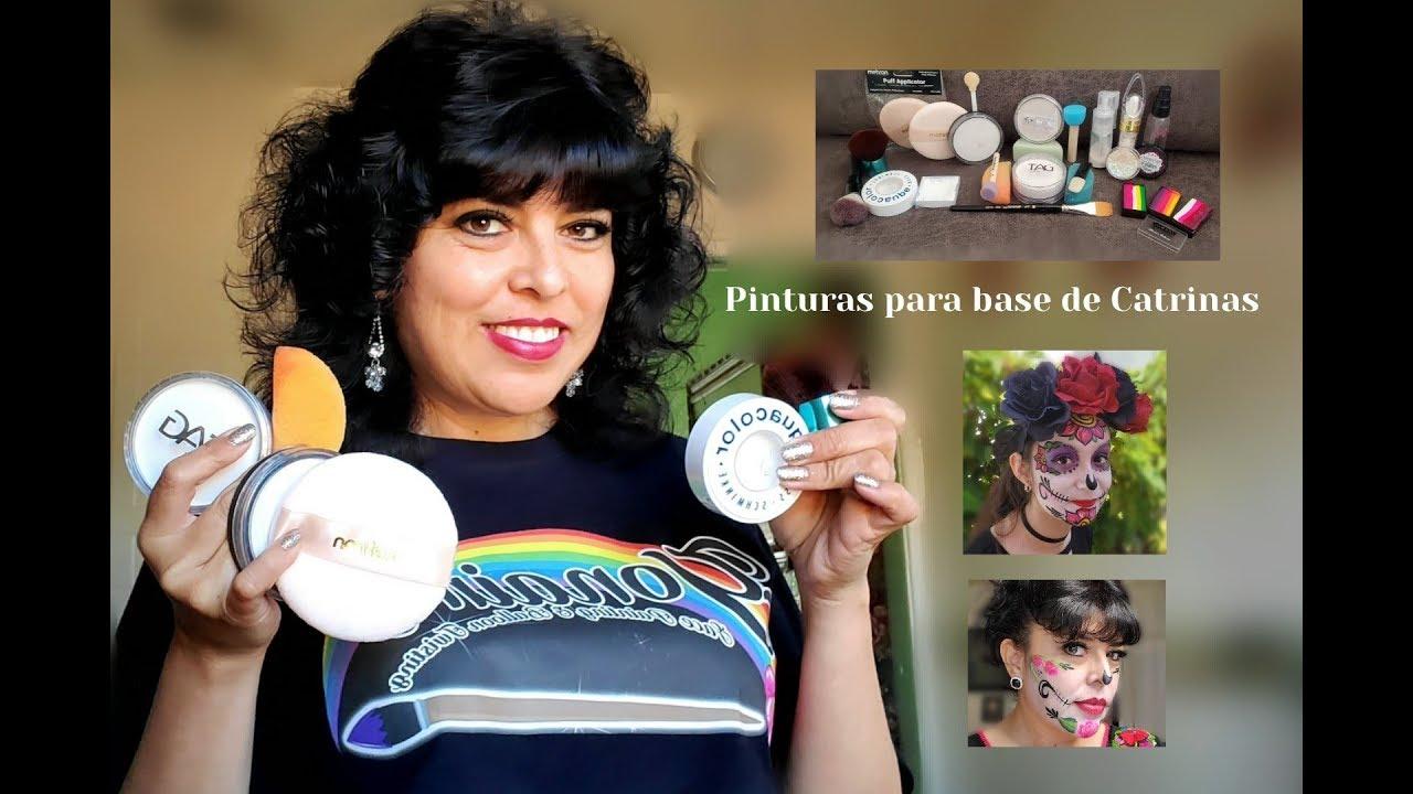 PINTURAS PARA BASE DE CATRINAS EN FACE PAINTING O PINTACARITAS