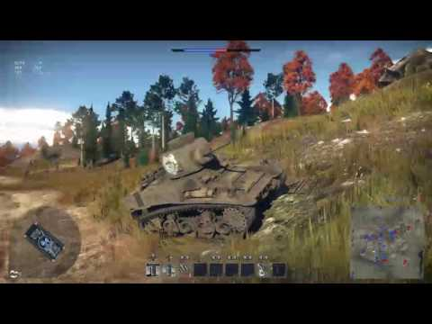 War Thunder: The M4A1 American tank (With Animefreak)