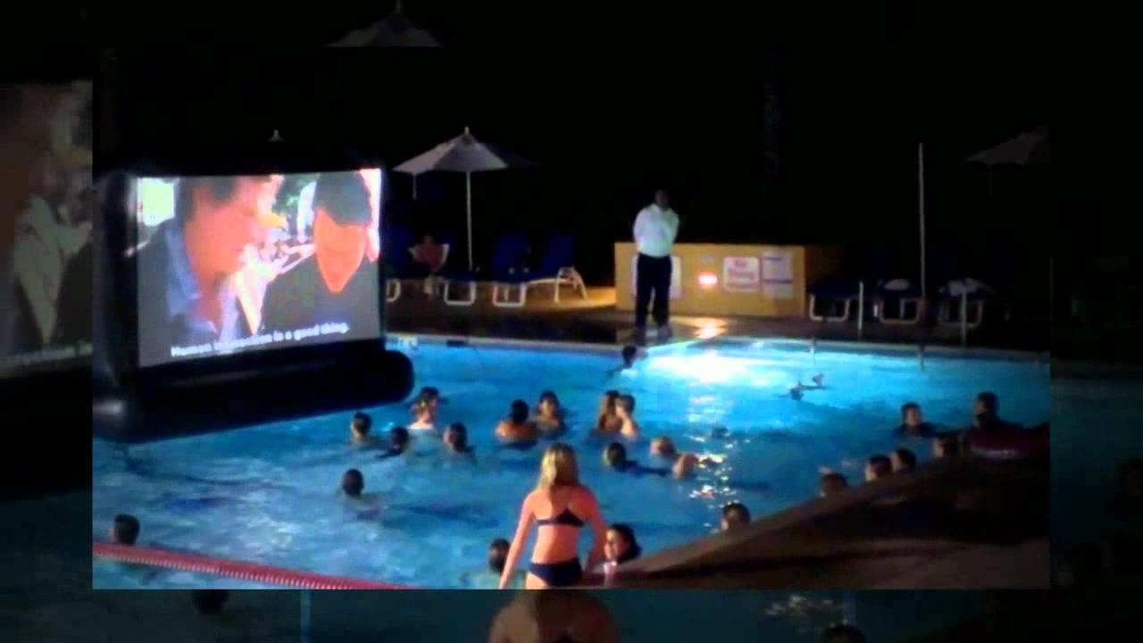 Aquascreen A Floating Inflatable Movie Screen For Your Swimming Pool Youtube