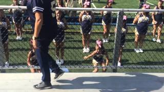 "PR Donnas Mascots Brooklyn & Marissa ""Celebrate"" cheer 2015"
