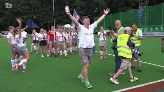 Siegerehrung Deutsche Feldhockey-Meisterschaft der Damen 2018 in Krefeld