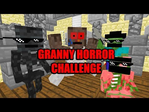 Monster School : GRANNY HORROR GAME CHALLENGE - Scary Minecraft Animation