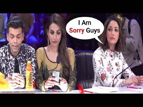 Malaika Arora Khan And Karan Johar Ignores Yami Gautam For Coming Late At Indian's Got Talent Set