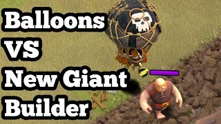 Balloons Level 6 VS The New Giant Hut | Troll | Clash Of Clans