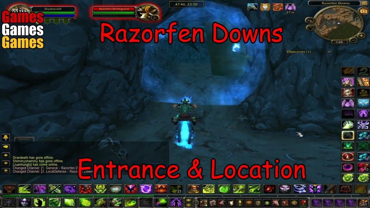 razorfen downs entrance location world of warcraft original dungeons youtube. Black Bedroom Furniture Sets. Home Design Ideas