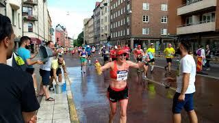 Free hugs at Stockholm Marathon 2018