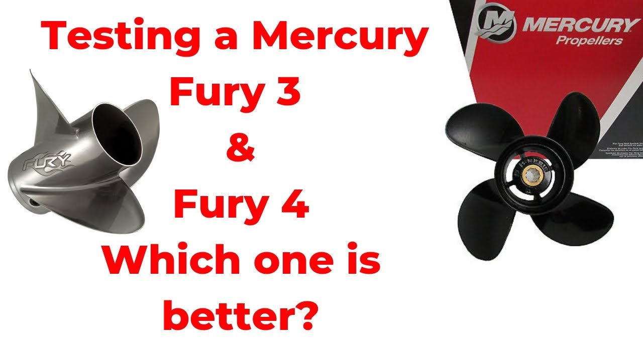 Testing a few Mercury Props today, the Fury 4 blade and Fury 3 blade watch  the results coming up!