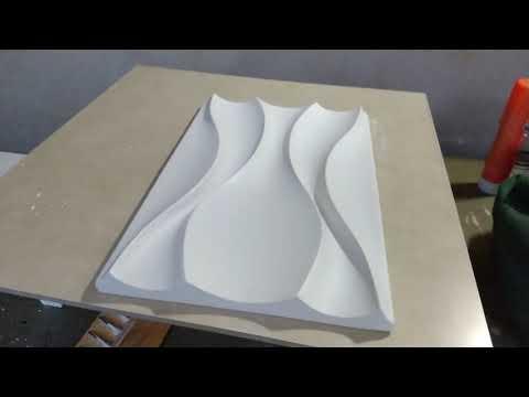 REVEST'ART MS, Ainda Na Faze De Testes E Aprendizados, Placa Gesso 3D Dunas.