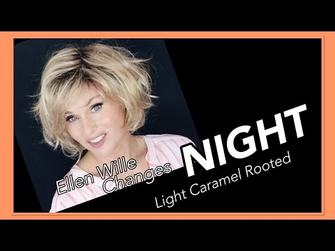 Ellen Wille Changes NIGHT Wig Review | Light Caramel Rooted | Wavy Bob!