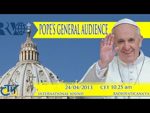 Pope's General Audience 2013-04-24