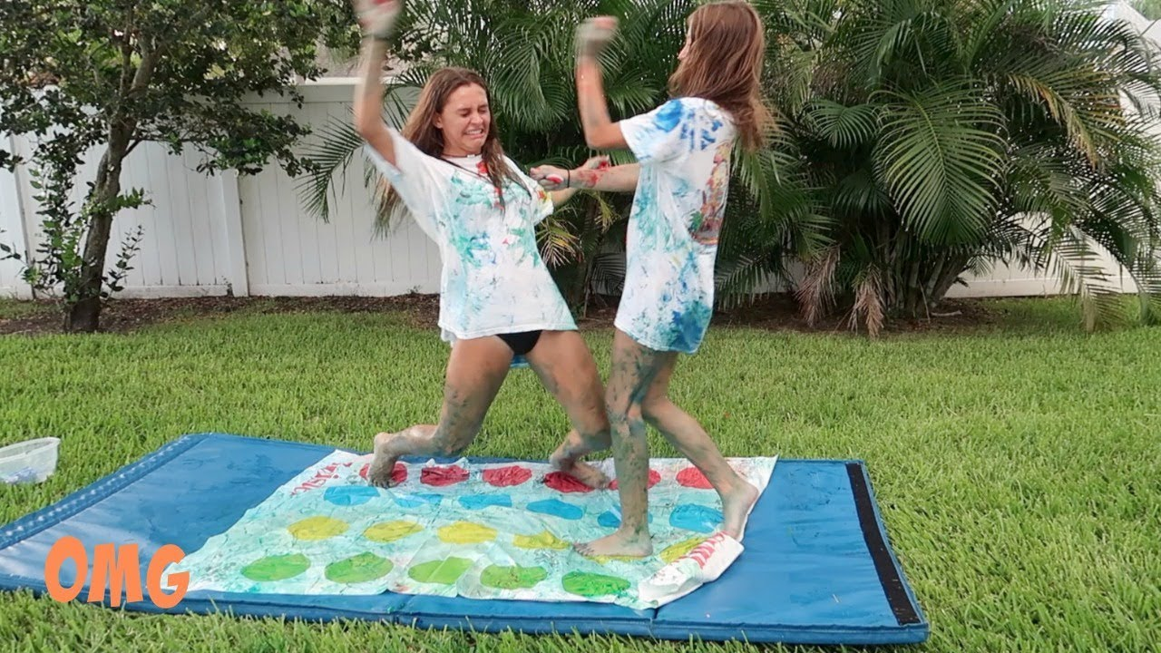 MESSY PAINT TWISTER CHALLENGE | Emma Marie
