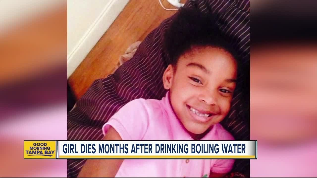 8-year-old Florida girl dies months after being dared to drinking boiling  water from a straw