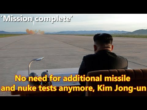 'Mission complete': Kim Jong-un says no need for further nuclear & missile tests