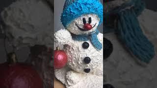 Видеоурок - Торт Снеговик