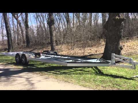 Hydraulic Fish House Frame Power Down