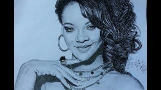 Dawing Rihana:Pencil Sketch || Speed Drawing ||