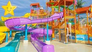 Детский Водный Парк Играем в Аквапарке Видео Для Детей kids Water Park entertainment For Kids