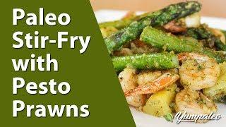 Paleo Stir-fry With Pesto Prawns Recipe