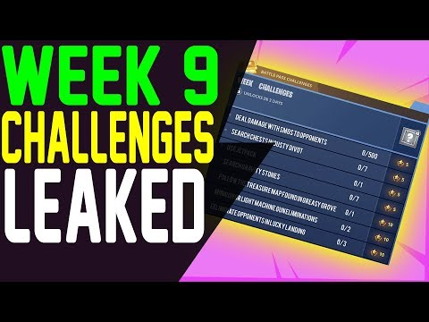 Fortnite LEAKED Week 9 CHALLENGES Season 4 All 7 Battle Pass Challenges