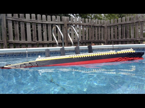 LEGO lusitania Model Sinking 3 【Out-takes/Unused shots】