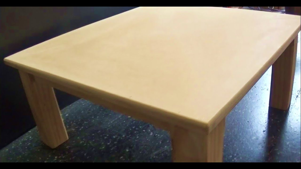 Como hacer una mesa de madera wooden table part 1 for Como hacer mesa extensible