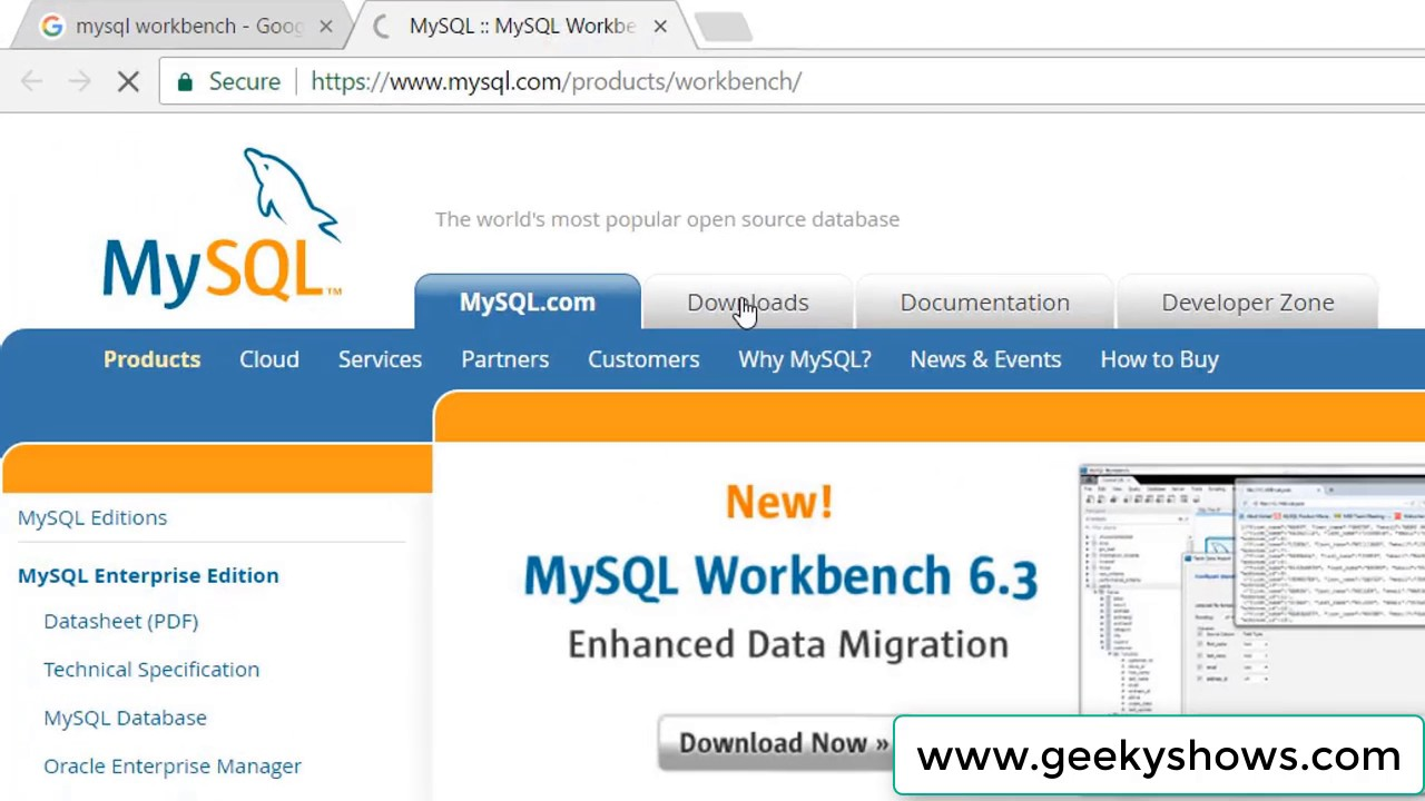How to download database from mysql workbench