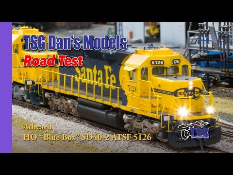 HO Scale Athearn Blue Box Super Detailed SD40-2 On Massive DCC Layout Dan's Models