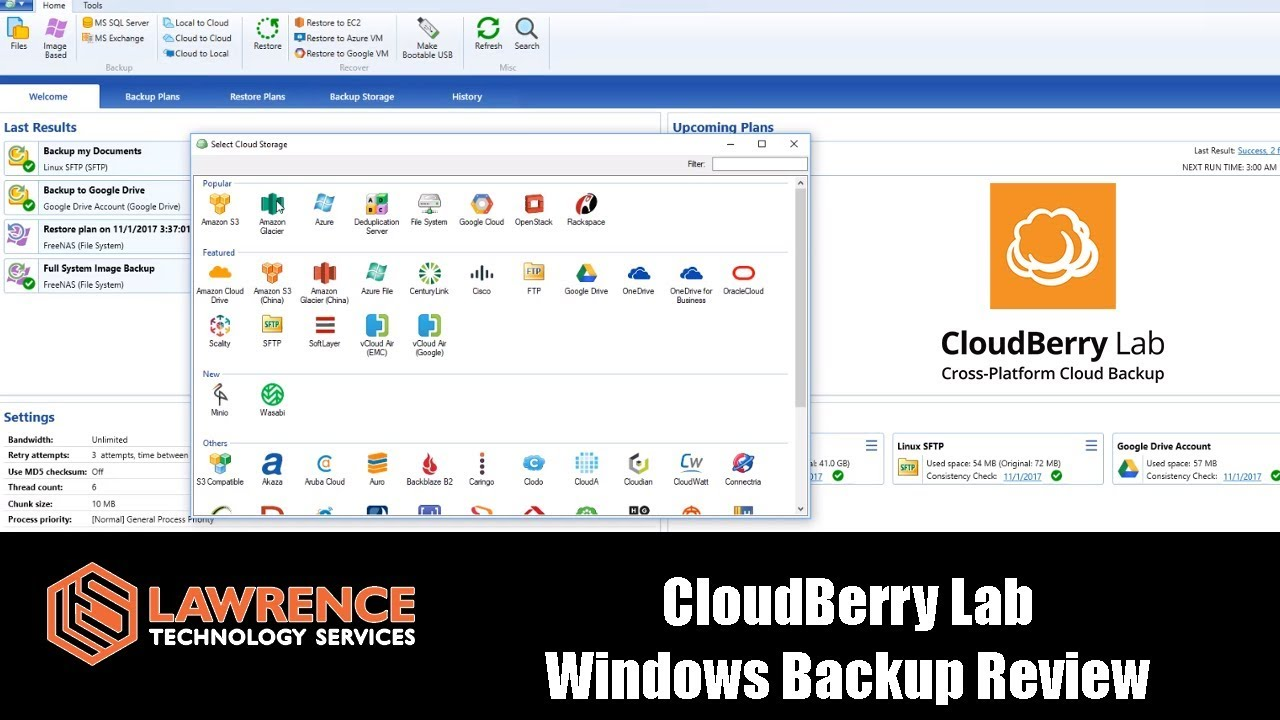 CloudBerry Backup Review by Lawrence Systems