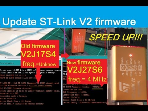 (STM32F103C8) How to update ST-Link V2 firmware to newest (get Speed Up!)  w/STM32 ST-LINK Utility