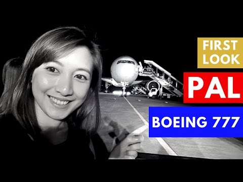 First Look: Philippine Airlines Boeing 777 300ER Plane ✔