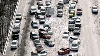 Charlotte, North Carolina - Snow storm time lapse: