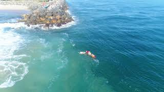Swimmers Saved From Rip by Off-Duty Lifeguards and Surfer