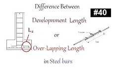 Difference between development length Ld or over-lapping lengthin steel bar in Urdu/Hindi