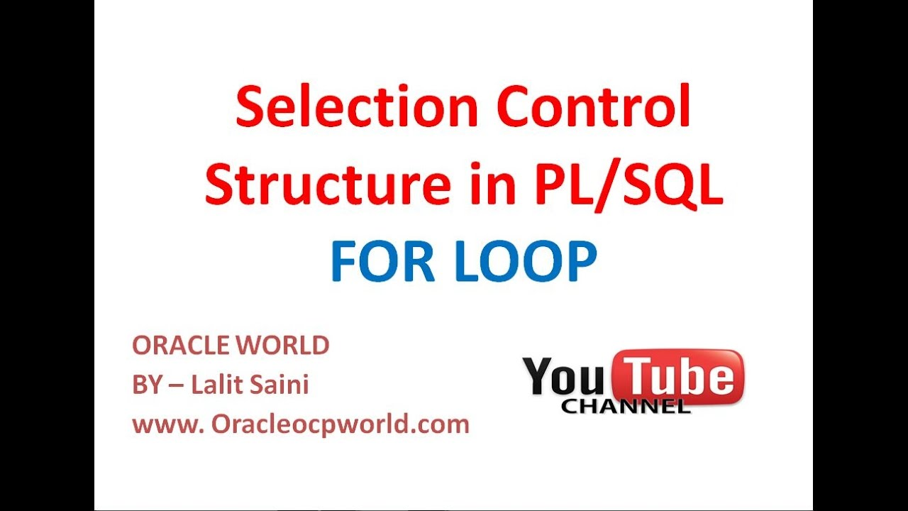 PL-SQL tutorial 28 - Iterative Control Structure FOR LOOP