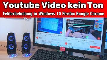 Youtube Video kein Ton 🔊 Video ohne Sound ▪ Probleme beheben