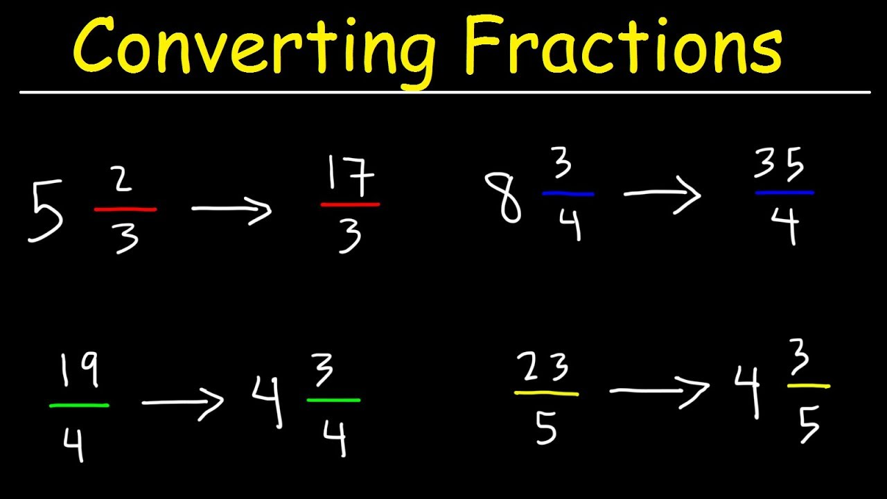 How To Convert Mixed Numbers To Improper Fractions - Basic Introduction