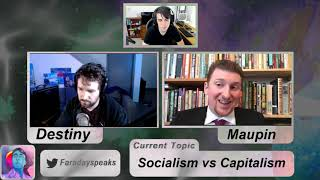 Caleb Maupin debates Destiny (Steven Bonnell) on Socialism