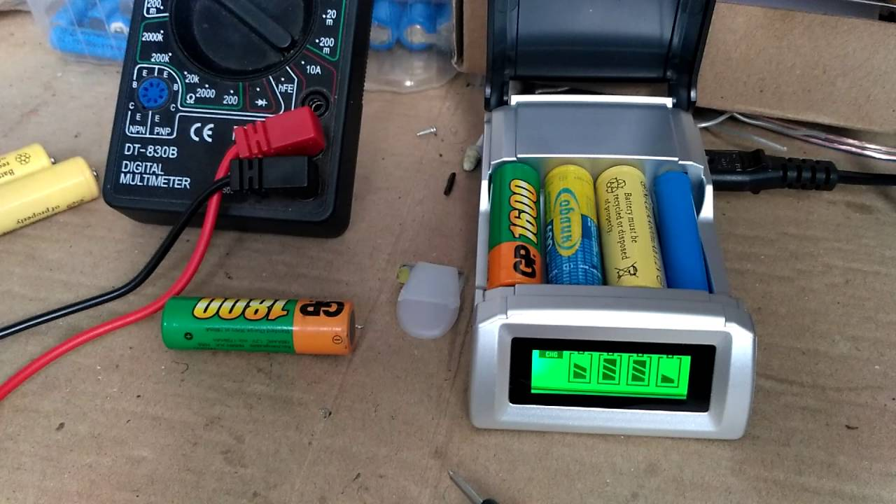 Зарядное устройство C905W для AA AAA NiCd NiMh ( брак ) - YouTube